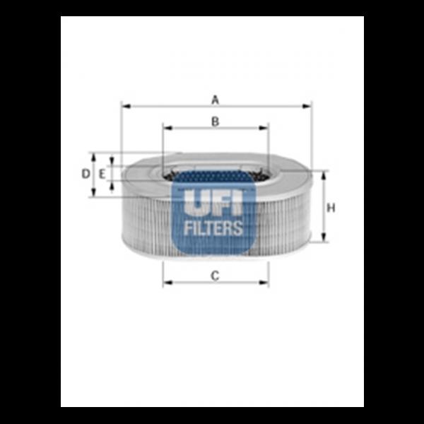 Ufi Luftfilter 27.196.00 - Stück