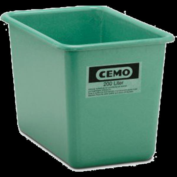 Cemo GFK Rechteckbehälter 200 l hoch Standard grün - Stück