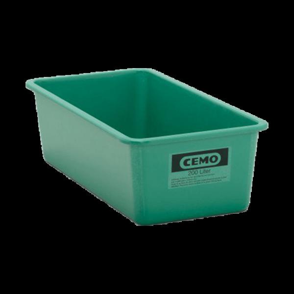 Cemo GFK Rechteckbehälter 200 l flach Standard grün - Stück
